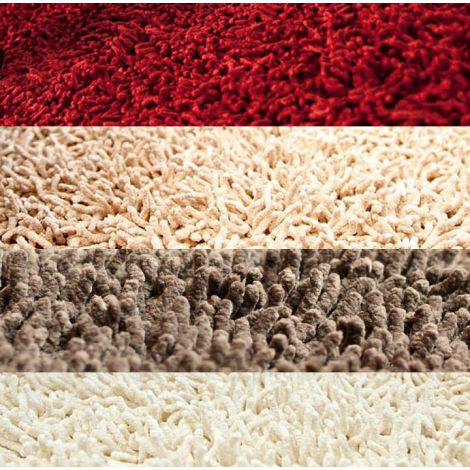 Silky Shag Rug, Close up of Colors and Material