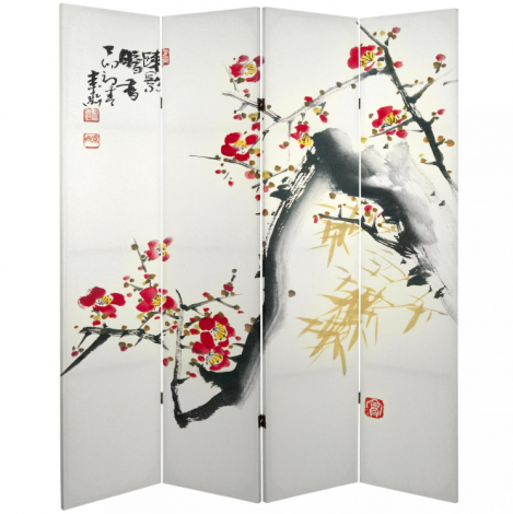 Cherry Blossom Canvas Shoji Screen Side 1