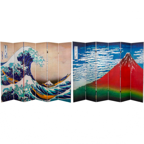 Hokusai Great Wave 6 ft Screen