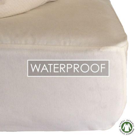 Sweet Dreams Waterproof Organic Cotton Mattress Protector