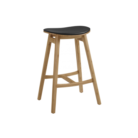 Skol Leather Seat Stool