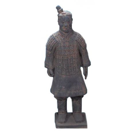 Standing Soldier Terra Cotta Statue
