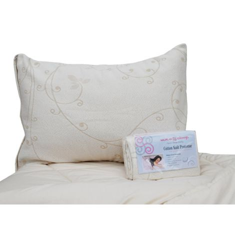 Deluxe Organic Cotton Knit Pillow Protector