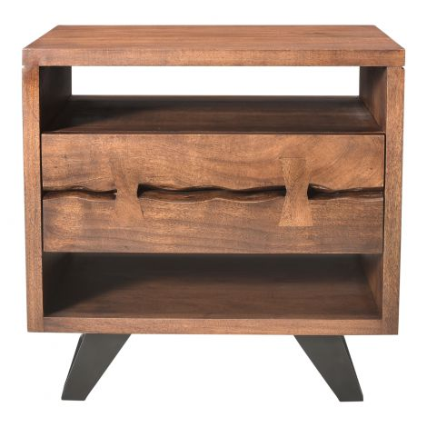 Madagascar Nightstand with Steel Legs