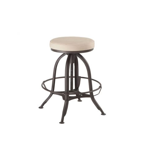 Welles Natural Canvas Backless Bar Stool