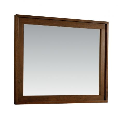 Phase Wall Mirror in Walnut wood finish