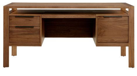 Phase Desk in Toast wood finish