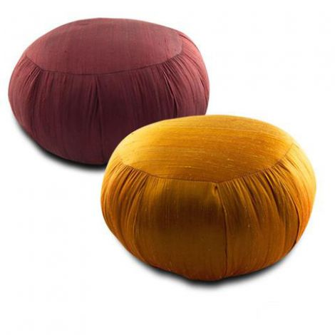 14 Inch Silk Zafu Meditation Cushion