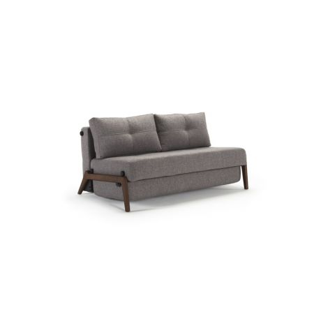 Zenkei Sleeper Love Seat with Dark Wood Legs