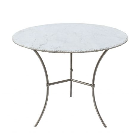 Palm Desert White Marble Dining Table