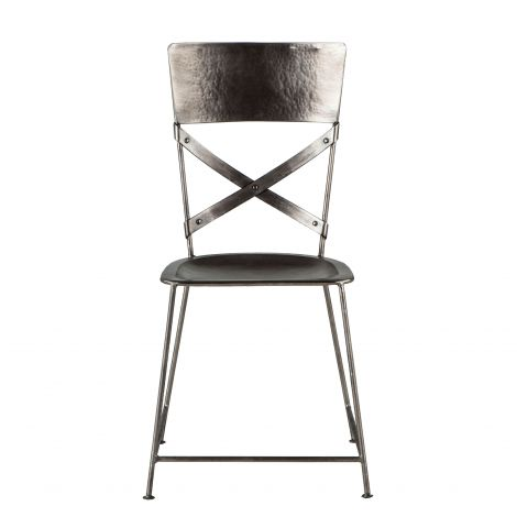 Artezia Hammered Iron Dining Chair, Set of 2