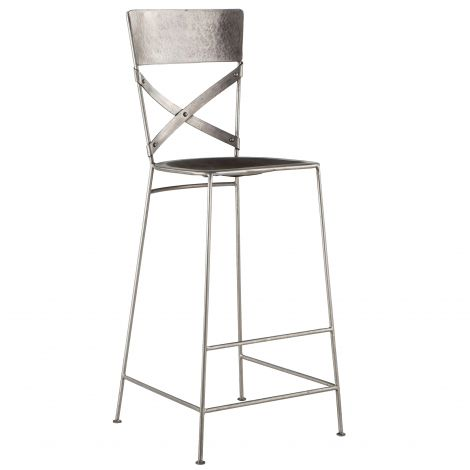 Artezia Hammered Iron Bar Stool, Set of 2