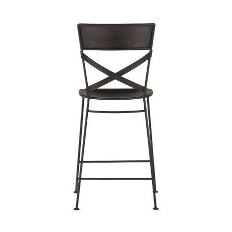 Artezia Hammered Iron Counter Chair, Set of 2