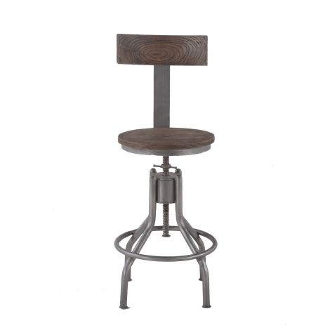 Artezia Reclaimed Teak Adjustable Bar Stools, Set of 2