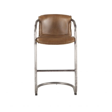 Chiavari Distressed Leather Bar Chair, Set of 2