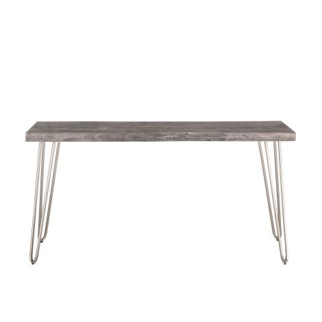 Grandby Console Table in Weathered Gray