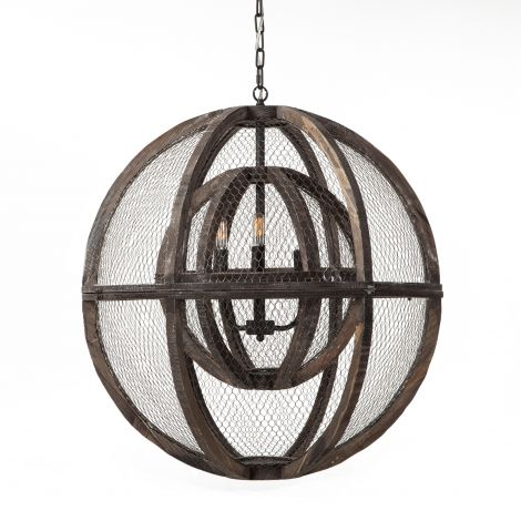 Element Industrial Globe Chandelier
