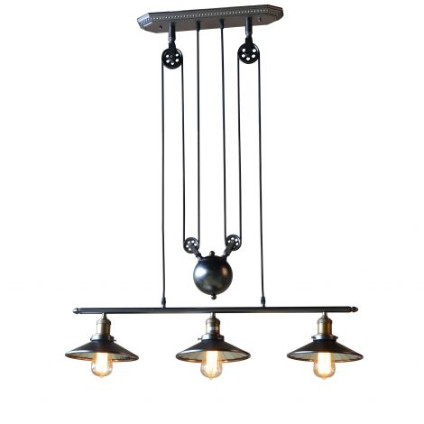 Element Industrial Pulley Chandelier
