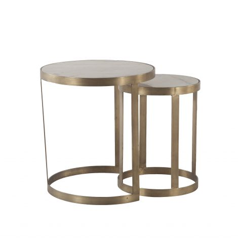 Leonardo Round Nesting Side Tables