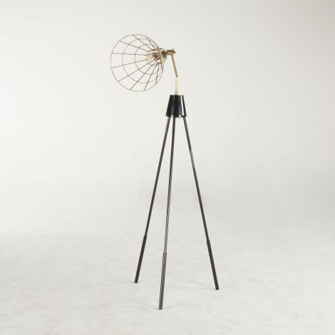 Nikola Conical Vintage Floor Lamp