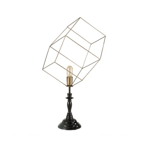 Nikola 3D Cube Vintage Table Lamp