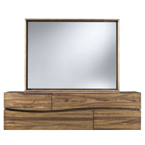 Luna Mirror in Walnut set upon the Luna Dresser (sold separately)