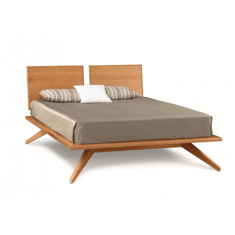 Astrid Platfrom Bed 2-Panel Headboard in Natural Cherry