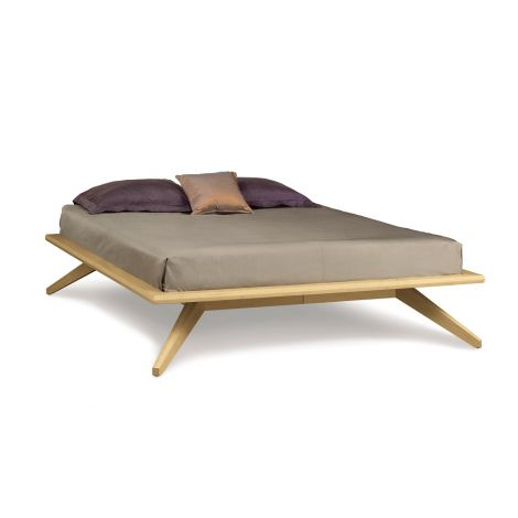 Astrid Platform Bed - Natural Cherry Finish