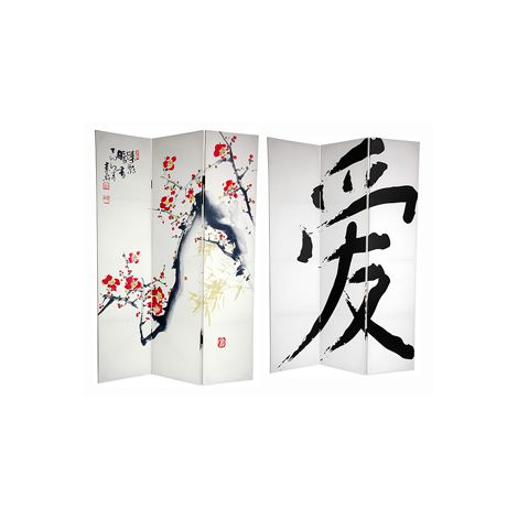 Cherry Blossom Canvas Shoji Screen
