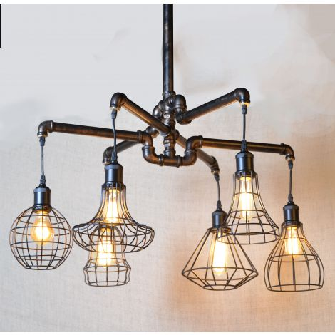 Element Industrial Pipe Ceiling Light