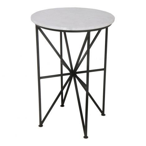 Quadrant Marble Accent Table