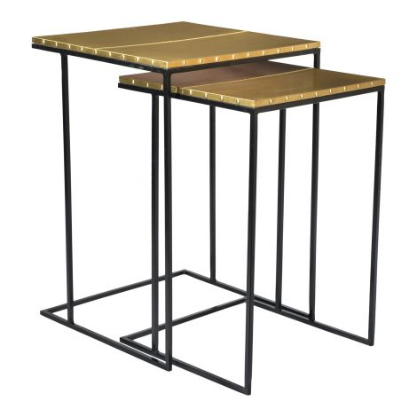 Rivet Nesting Tables- Set of 2
