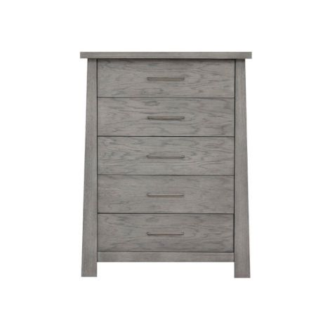 Hiro 5 Drawer High Chest in Drift Wood