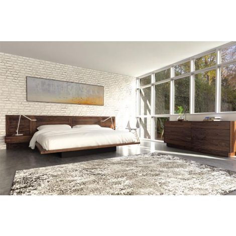 Moduluxe Bedroom Set in Natural Walnut