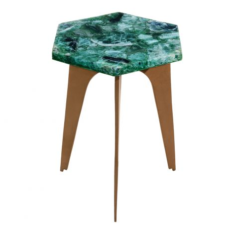 Green Fluorite Accent Table