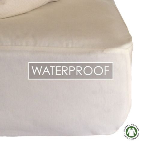 Sweet Dreams Waterproof Organic Cotton Mattress Protector