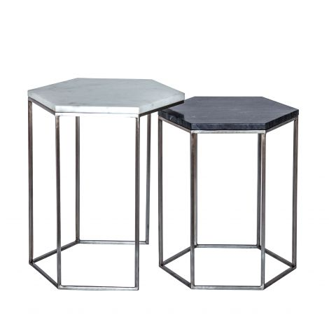 Leonardo Hexagon Nesting Side Tables