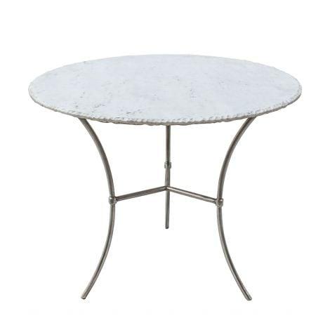 Palm Desert White Marble Dining Table