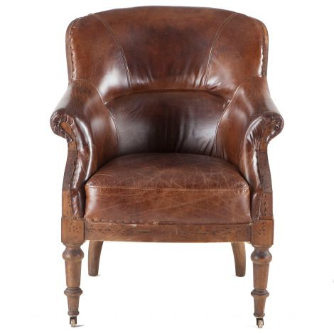 Charles Deconstructed Armchair with Cigar Leather