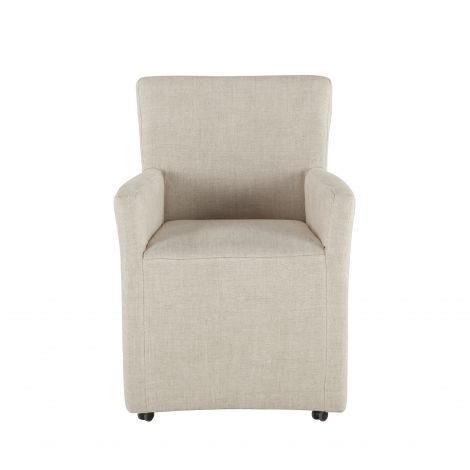 Lily Linen Wheeled Armchair