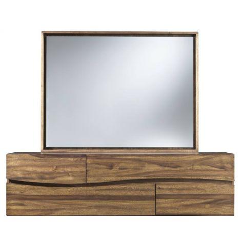Luna Mirror in Walnut set upon the Luna Dresser (sold separately)