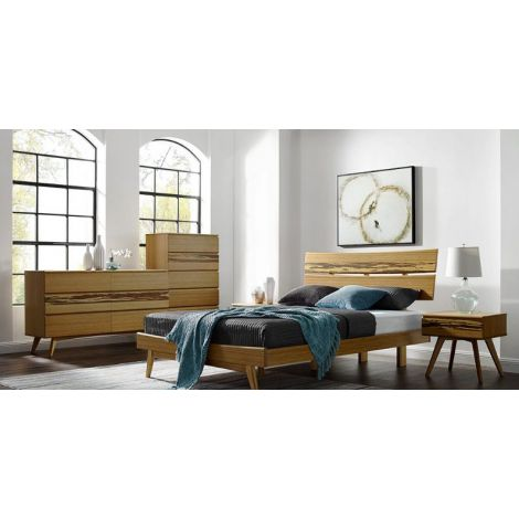 Azara Platform Bedroom Collection in Caramelized