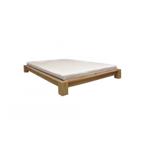 Raku Tatami High Rise Platform Bed in Honey Oak.  Headboard, Tatami Mat and Shiki Mat (all sold separately)