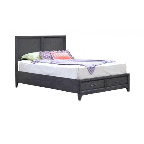 Cove Beach Platform Bed in Gray Wash