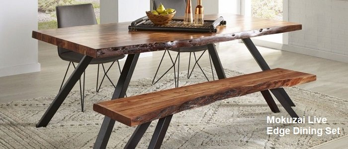 Mokuzai Live Edge Dining Room Set