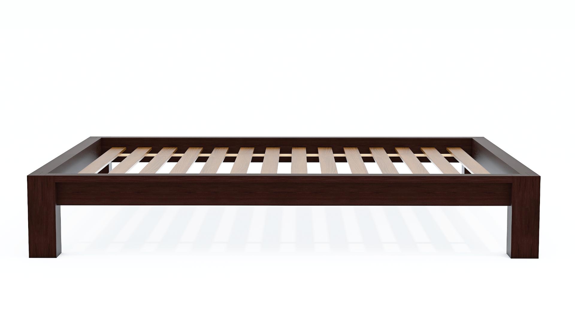 Raku Tatami High Rise Platform Bed in Dark Walnut
