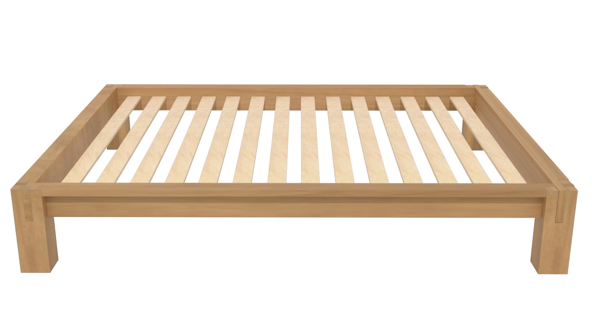 Raku Tatami High Rise Platform Bed in Honey Oak