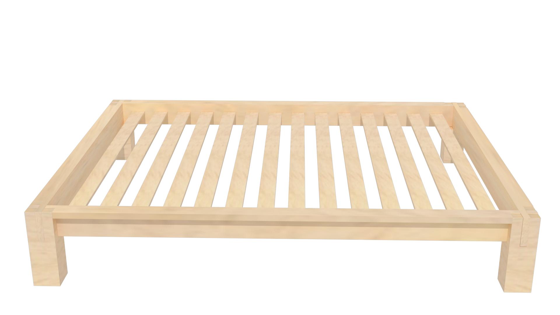 Raku Tatami High Rise Platform Bed in Natural