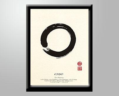 Enso Japanese Calligraphy Print Haiku Designs