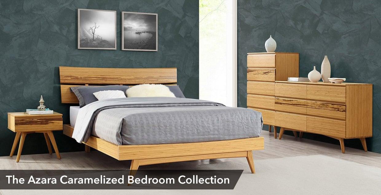 Azara Platform Bed In Caramelized